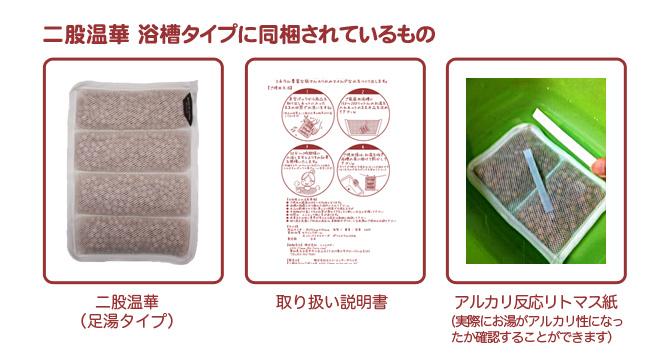 二股石灰華使用 二股温華 足湯用 同梱されているもの